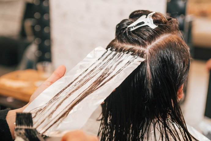 bleaching causes grey hair