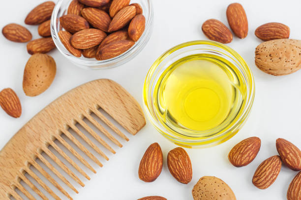 almond oil with comb